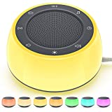 Jack & Rose Sound Machine with Night Light, White Noise Machine for Sleeping Baby Kid Adult, 16 Sounds for Sleeping, Plug in