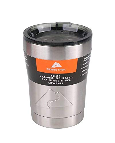 Ozark Trail 10oz Vacuum Insulated Stainless Steel Lowball Tumbler Cup Mug