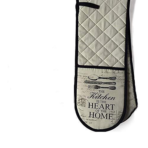 HelpCuisine® Premium Qualität Handschuhe aus Baumwolle grillhandschuhe backofenhandschuhe (1 X Doppelhandschuh)