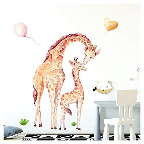 Little Deco Wandtattoo Giraffen I (BxH) 42 x 60 cm I Kinderzimmer Babyzimmer Kinder Aufkleber Sticker Wandaufkleber Wandsticker Klebeposter Stickers Kind DL137