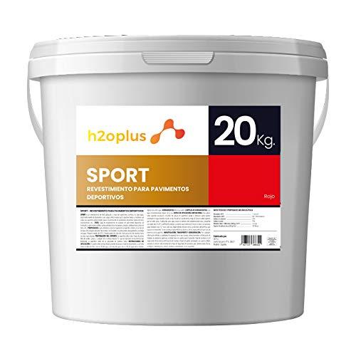 Pintura para Pistas Deportivas y Pavimentos Deportivos en General · Sport Rojo 20Kg · Producto Natural 100% en Base Agua, SIN Olor a Disolventes Químicos · Ideal para Pistas de Pádel/Tenis/Fro