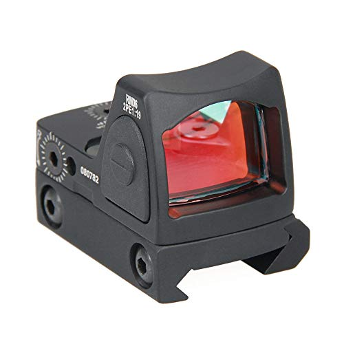 Tactical RMR Red Dot Sight, Mini 2 Moa Red Dot Sight, Adjustable Reflex Red Dot Sight, 20mm Reflex Sight Pistol Handgun Shunting Red Dot Leuchtpunktvisier Rotpunktvisier für Jagd Softair Pistole