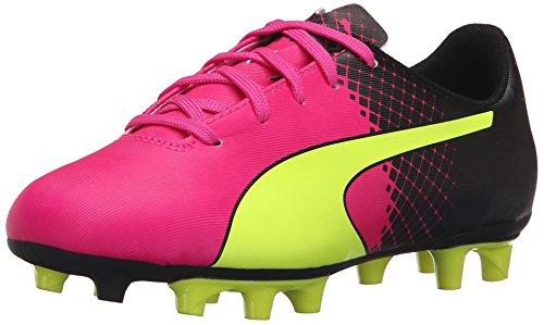 PUMA Evospeed 5.5 Tricks Fg JR Skate Shoe, Pink Glo/Safety Yellow, 3.5 B US Big Kid