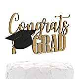 NANASUKO Graduation Party Cake Topper - Congrats GRAD - Premium...