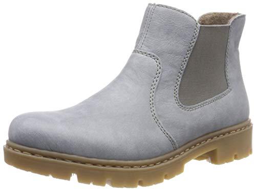Rieker Damen 71364 Chelsea Boots, Blau (Sky/Browngrey 10), 39 EU