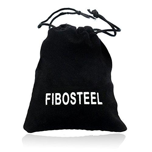 FIBO STEEL 2Pcs 11mm Wood Beaded Bracelet for Men Buddhist Beads Elastic