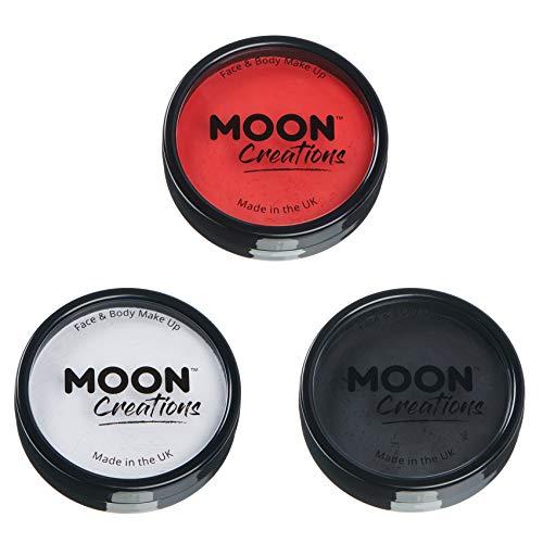 Moon Creations - Pintura Facial Profesional activada por Agua - Set de 3 Colores