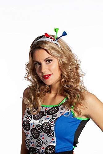 Wilbers&Wilbers Kostüm Zubehör Diadem Darts Karneval Fasching Verkleiden