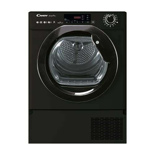 CANDY BCTD H7A1TE-80 Integrated Heat Pump Tumble Dryer, Wifi Connected, 7KG, Black, One Size