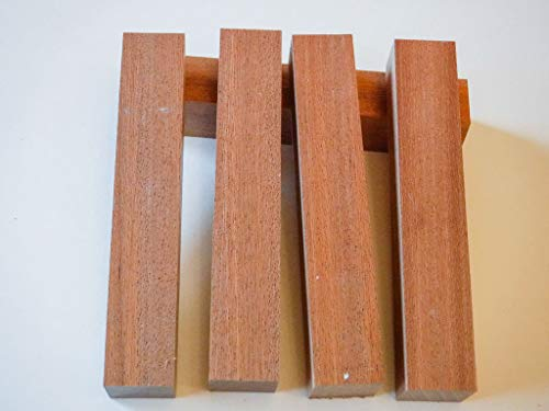 African Mahogany 7/8 Inch Pen Blanks - 5 Pack by Shed Life