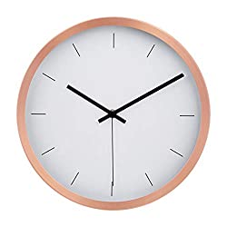 AmazonBasics 12 Modern Wall Clock - Copper