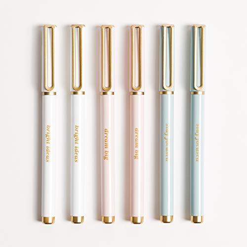 U Brands Classic Pretty Pastels Felt Pens Set, Black Ink, 6 Count, 4518A04-24