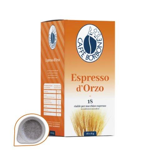 72 Cialde Espresso D\'Orzo Caffe\' Borbone Filtro in Carta 44 mm