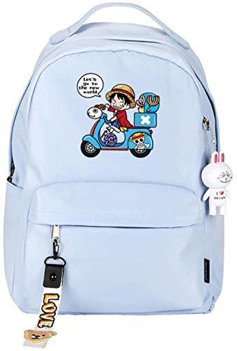 One Piece Luffy/Tony Tony Chopper/Mochila de Anime de Dibujos Animados Mochila de Gran Capacidad para Estudiantes de Moda Mochila-B (Color: C)-re
