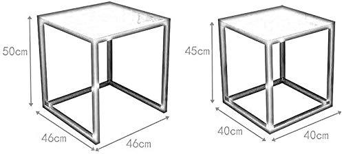 Anidada pequeña mesa de café, dos mesas puede ser anidada de combinación creativa, escalable, mesas negras,Black
