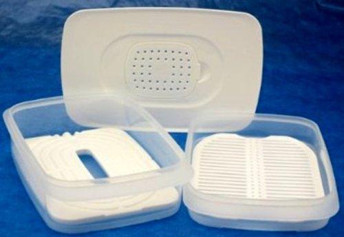 1a TUPPER K30 Frische-System Set (5) Cool'N Fresh --- klar weiß
