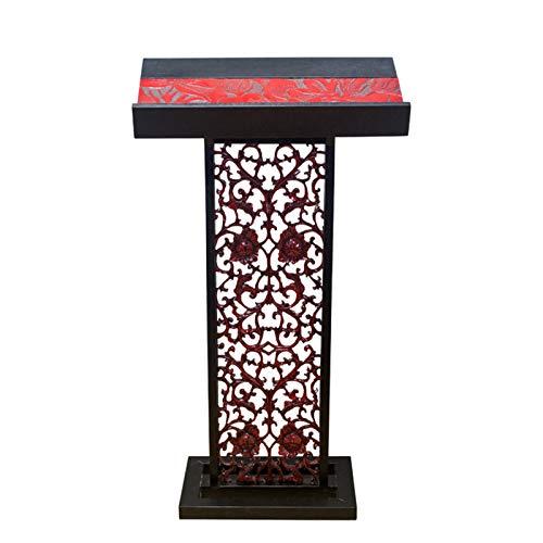 KCCCC Simple Lecterns Desk Tall Podium for Floor Pulpit Lectern Solid Wood Podium Reception Restaurant Podium Office Lecterns (Color : Black, Size : 66x35x120cm)