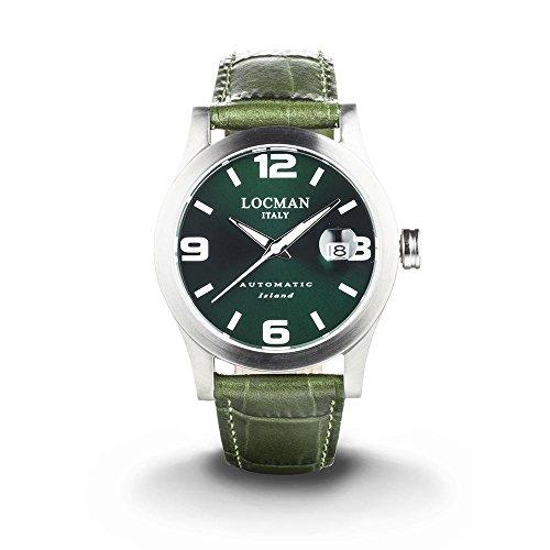 Island Locman Herren-Armbanduhr, Automatik, Grün