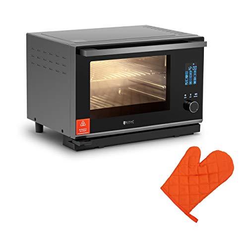 Royal Catering RC-SOQ3 Dampfbackofen 25 L 2.100 W silber 40-220 °C Touchpad mit LED-Anzeige Konvektomat Kombidämpfer