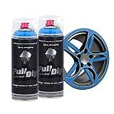 AutoFullCar Full Dip Pack 2 Spray Colores FULLDIP PLASTIDIP - TiendaFullDip.com (Azul Luminoso)