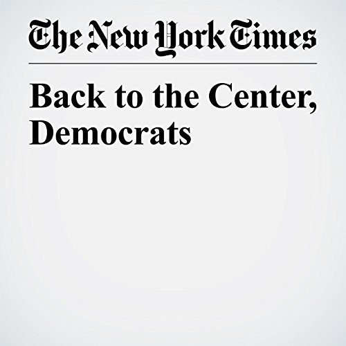 Back to the Center, Democrats copertina
