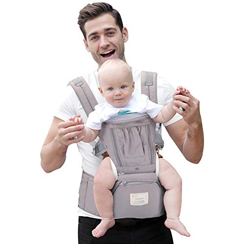 XIANG Baby Carrier Cartoon Multifunctional Cozy Double Belt Backpack Baby Carrier Breathable Blue