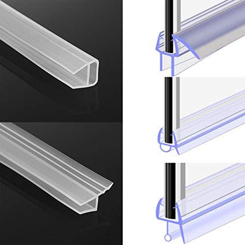 1M 6-12mm FUH-vorm glazen deur afdichtstrips siliconenrubber vensterglas afdichtstrip badschermdeur tochtstrip, h, 6mm