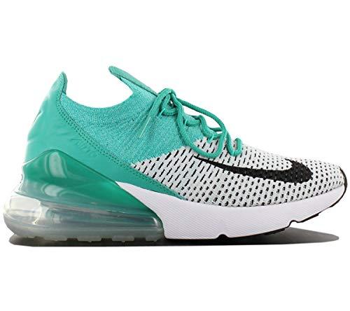 Nike Air Max 270 Flyknit Women Sneaker Trainer (37 1/2 EU, Emerald/Black)