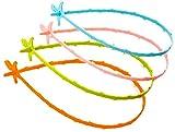 KIRALOVE Tubos de Drenaje del Fregadero Stura - Idea de Regalo Original - émbolo - Espiral para Eliminar el Vello - Paquete de 3 Piezas - Visto en la televisión Bugs Bunny