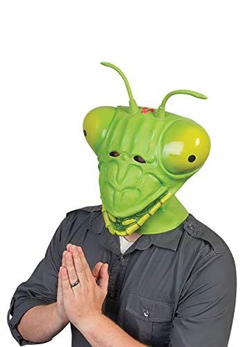 Praying Mantis Adult Costume Latex Mask Green