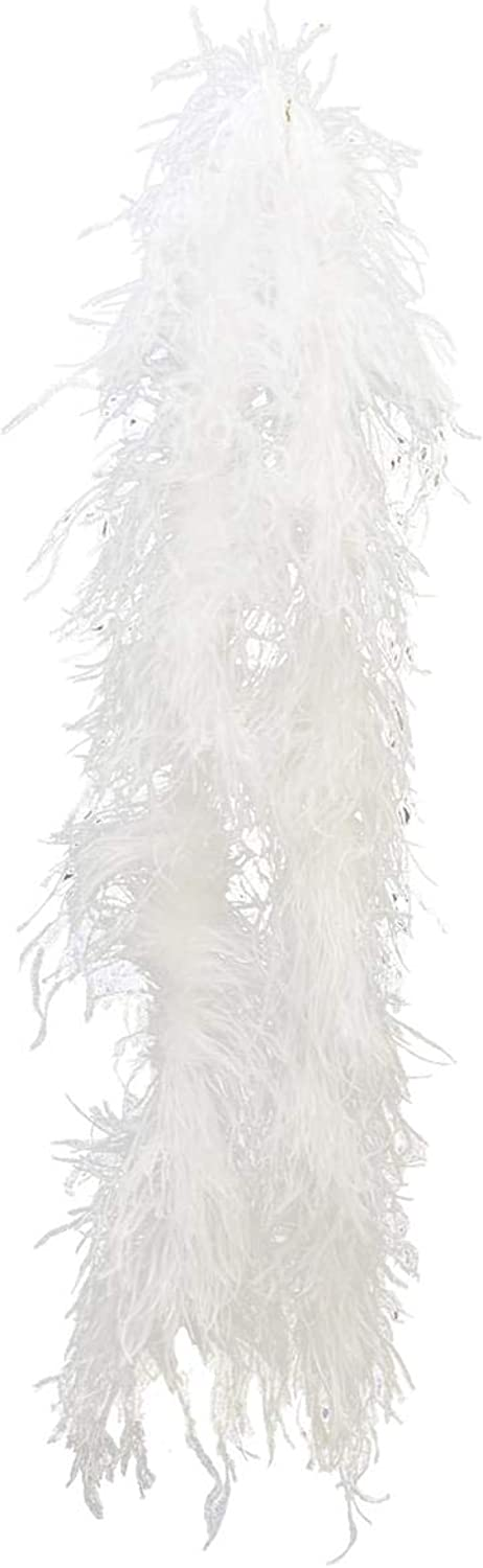 Costumes For All Occasions BB34WT Boa Ostrich White 2 Yds