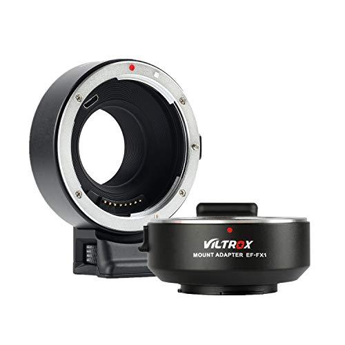 Viltrox EF-FX1 - Adaptador de Objetivo para Canon EF/EF-S a Fuji X-Mount sin Espejo para cámara...