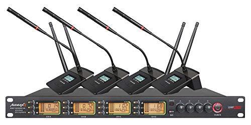 Audibax Sidney Conference 1000 Sistema Inalámbrico de Conferencia 4 Canales UHF