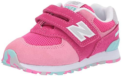 New Balance Unisex-Kinder 574 Sneaker, Pink Peony Glo Ujb, 25 EU