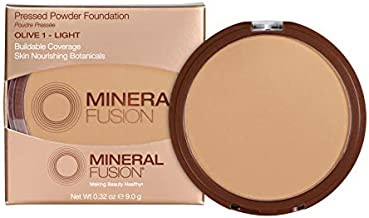Mineral Fusion Pressed Powder Foundation, Olive 1, 0.32 Ounce