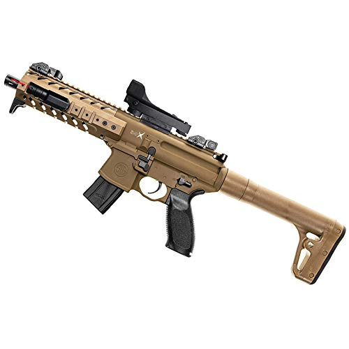 MPX FDE Táctical Sig Sauer Fusil-Escopeta de Aire comprimido (CO2) y balines (perdigones) Calibre 4.5mm. Carabina semiautomática. Potencia: < 3,5 Julios