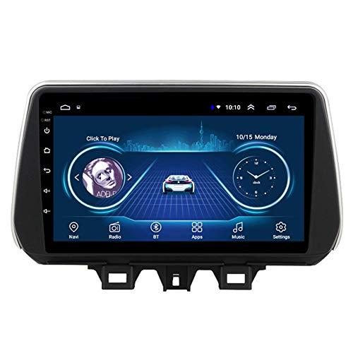 JALAL Navegador GPS para Coche Pantalla táctil Doble DIN HD para Hyundai Tucson 2018-2019 Soporte para teléfono Bluetooth Manos Libres Subwoofer DSP SWC Salida de Video Compatible