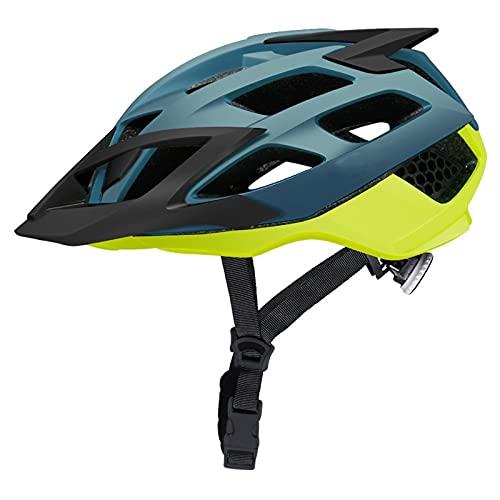 TTESOPG Casco de Bicicletas, Casco de Ciclismo con Gafas de Sol Transpirable en Molde de montaña Casco de Bicicleta de montaña MTB Moldeado integralmente para Montar en Bicicleta
