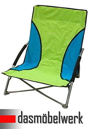 dasmöbelwerk Strandstuhl Campingstuhl Klappstuhl Summer Beach Chair mit Transporttasche Grün