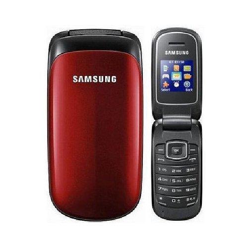 Samsung E1150 Ruby red - Klapphandy Handy offen für alle Netze (GTE1150RRA)