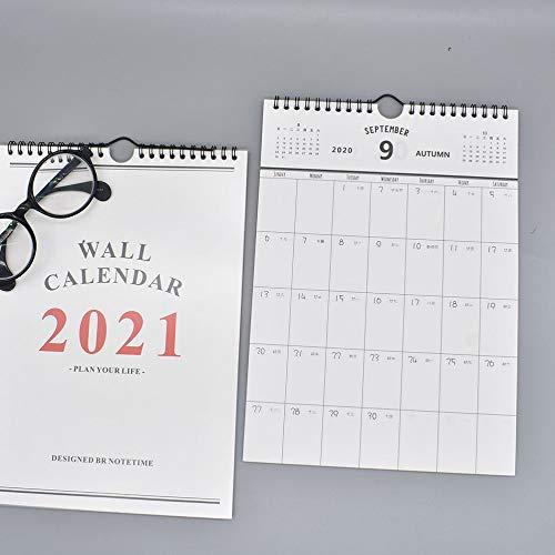 Calendario de escritorio Calendario 2021 pintado a mano calendario de escritorio Programación mensual La programación del calendario de pared del orden del día del calendario de escritorio for Office