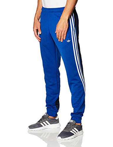 adidas 3 Stripe Wrap Trainingshose royal Blue/White