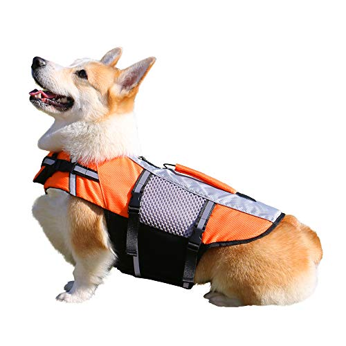 DHY Mesh Dog Life Jacket Lightweight with Rescue Handle, Suitable for Small Medium Large Dogs, Allow...