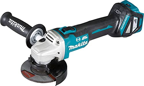 Makita DGA463Z Angle Grinder, 18 V, Blue, 115 mm
