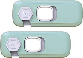 Scicalife 2St Barnsäkerhetsband Lås Baby Proofing Skåp Band Lås Kylskåp Limhäft Lås Multi- Användning Adn Häftbandslås