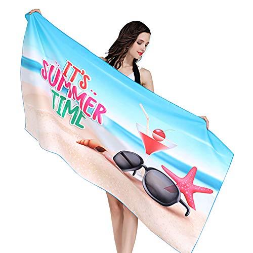 AUTTYL Microvezel Oversized Beach Handdoek, Snel Droog Enorm Zandvrij Lichtgewicht Reis Compact Draagbare Camping Beach Zwembad Yoga Zwem