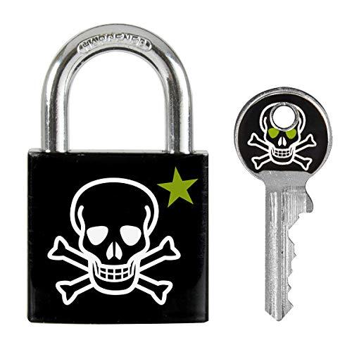 Master Lock 3430EURDSKULL Schlüssel Vorhängeschloss mit Totenkopfmotiv, Totenkopfmotiv, 5,3 x 3 x 1,5 cm