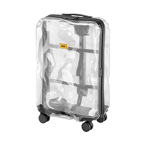 Crash Bagage Unisex-Adult Transparante Trolly koffer Klassiek Medium