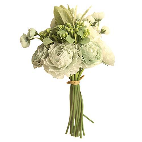 Ramos de novia artificial floral elegante boda Yesmile ❤️ Multicolor Rosa fantasma Peonía Seda superior Ramo de flores individual Decoración de la boda