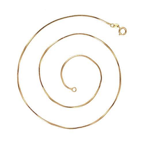 Cadena de cuello de malla de espejo 45 cm x 2 mm, oro amarillo laminado*